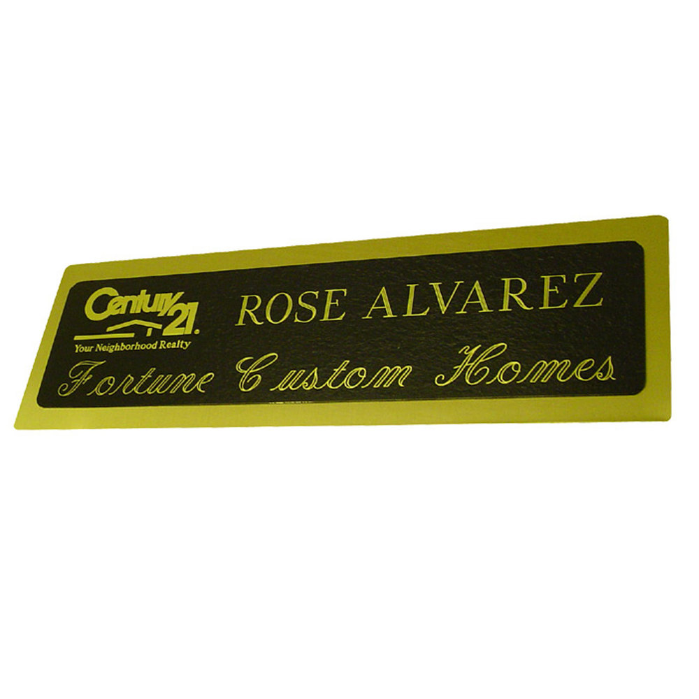 Engraved Brass Sign