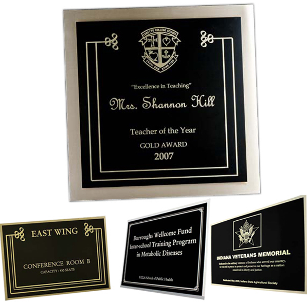 Bronze and Etched Aluminum Plaques