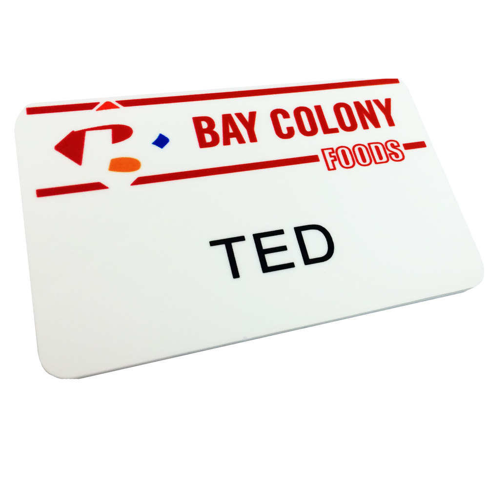 2 x 3 plastic ted bear movie name tag only bay colony foods