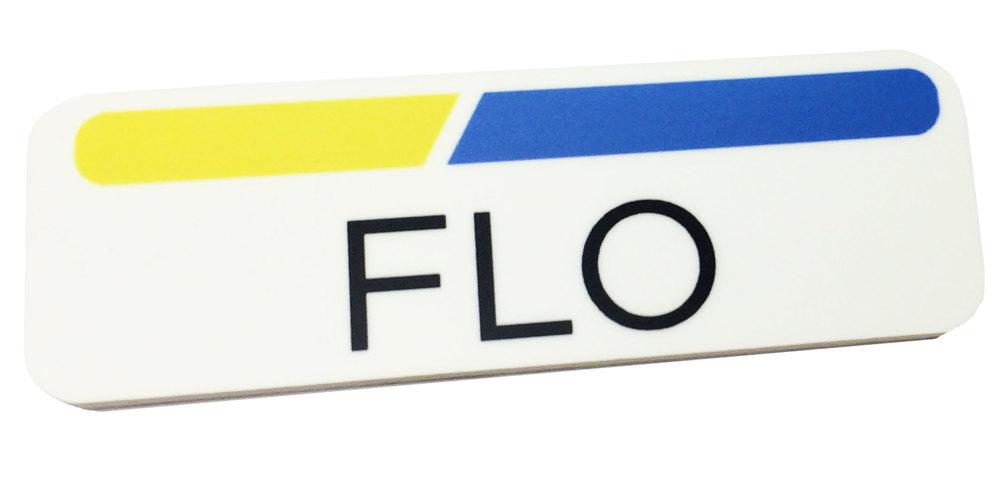 4 x 3 name badge template - 1 x 3 plastic flo name tag badge only progressive