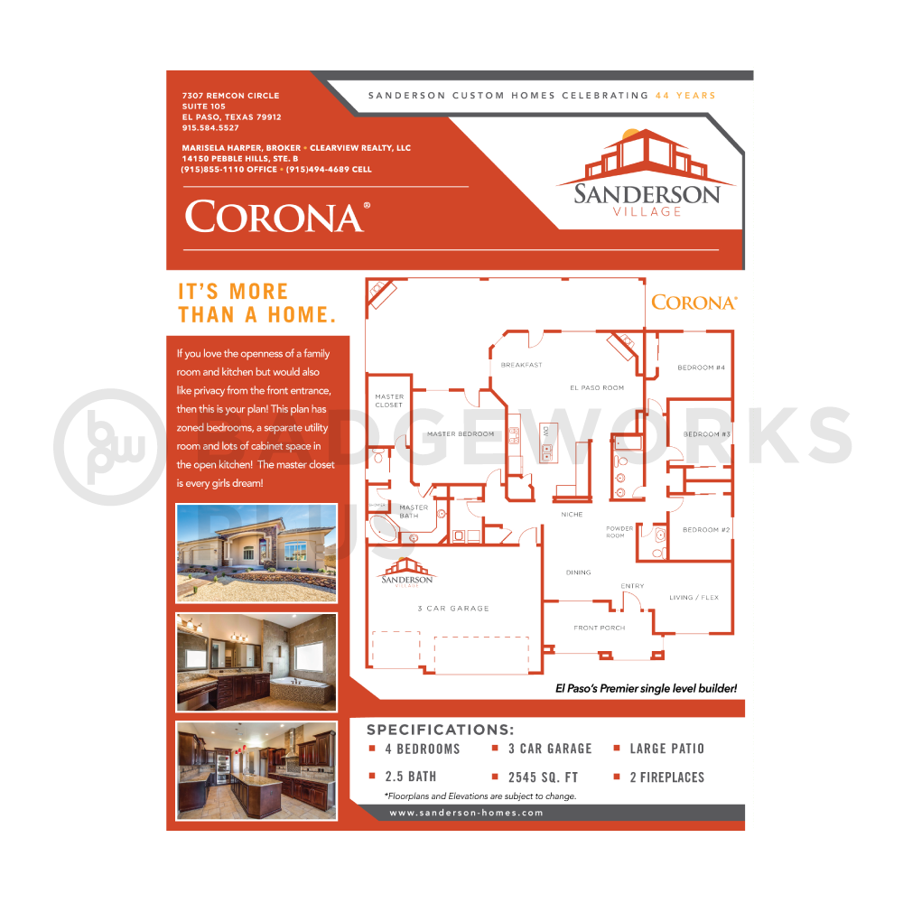 Sanderson Village Flyer with Floor Plans