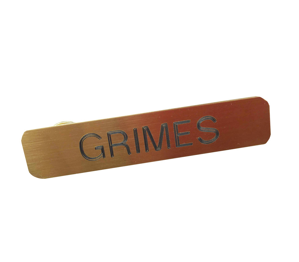 "the walking dead ""grimes"" sheriff dept amc name tag badge halloween"