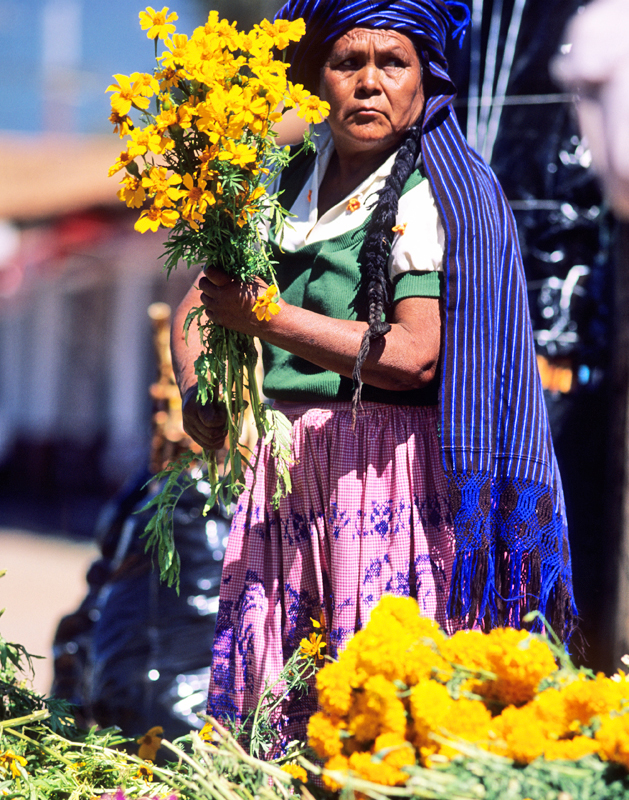 Flower Seller, Michoacan