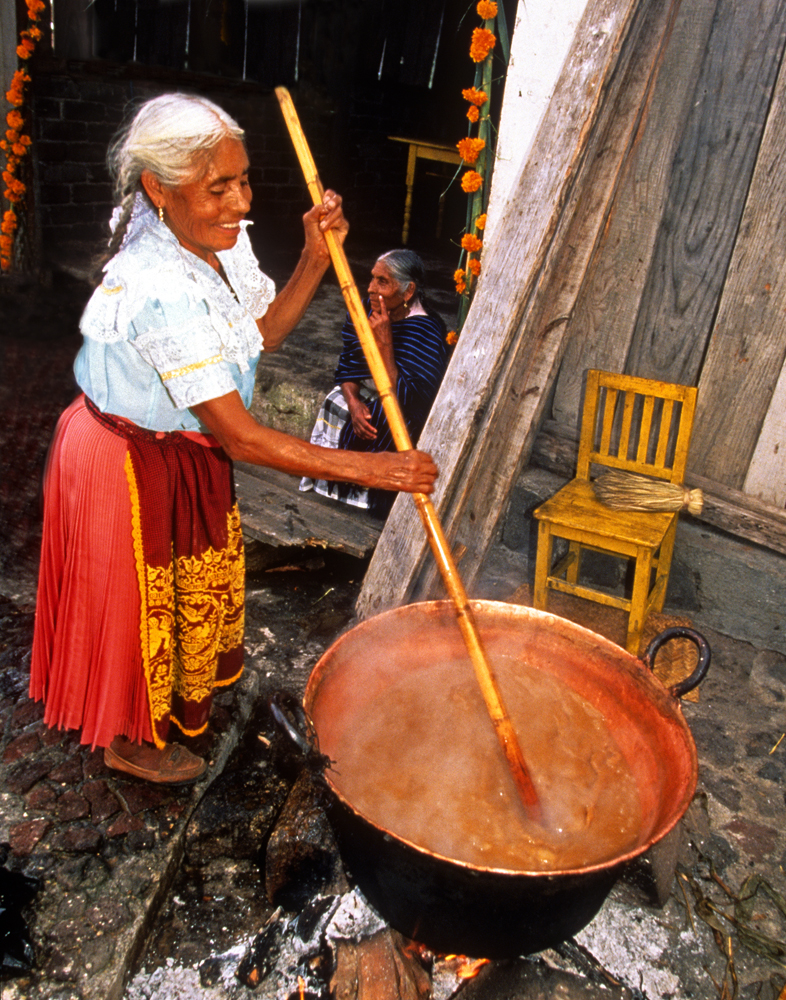 Stirring Atole, Michoacan