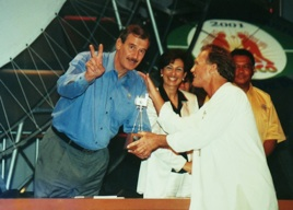 Bruce Herman with  president, Vicente Fox
