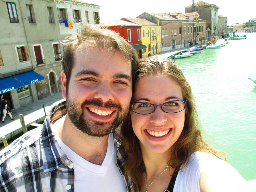 On our honeymoon in Venice!