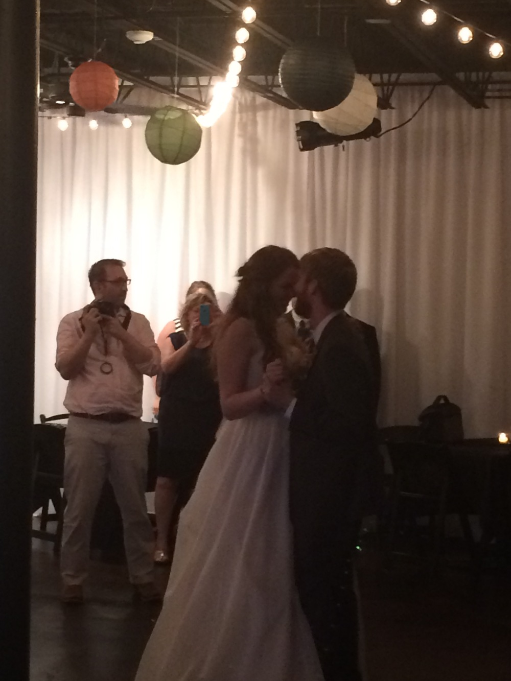 The bride and groom's first dance! I apologize for the dark and blurry picture!