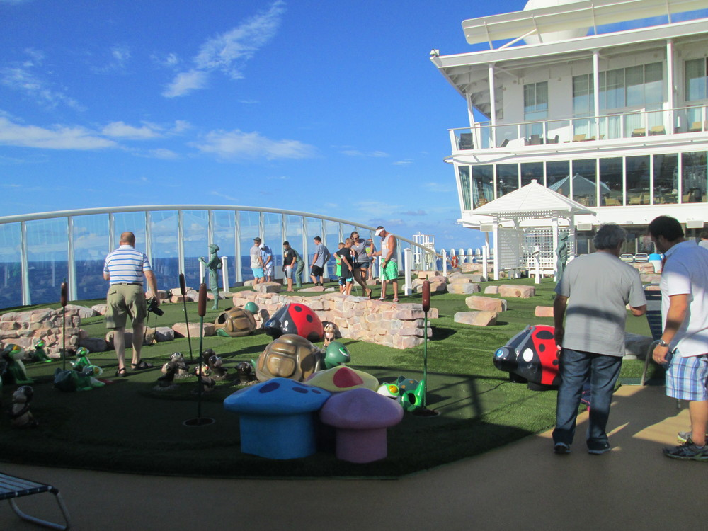 There is also a mini-golf course on board!