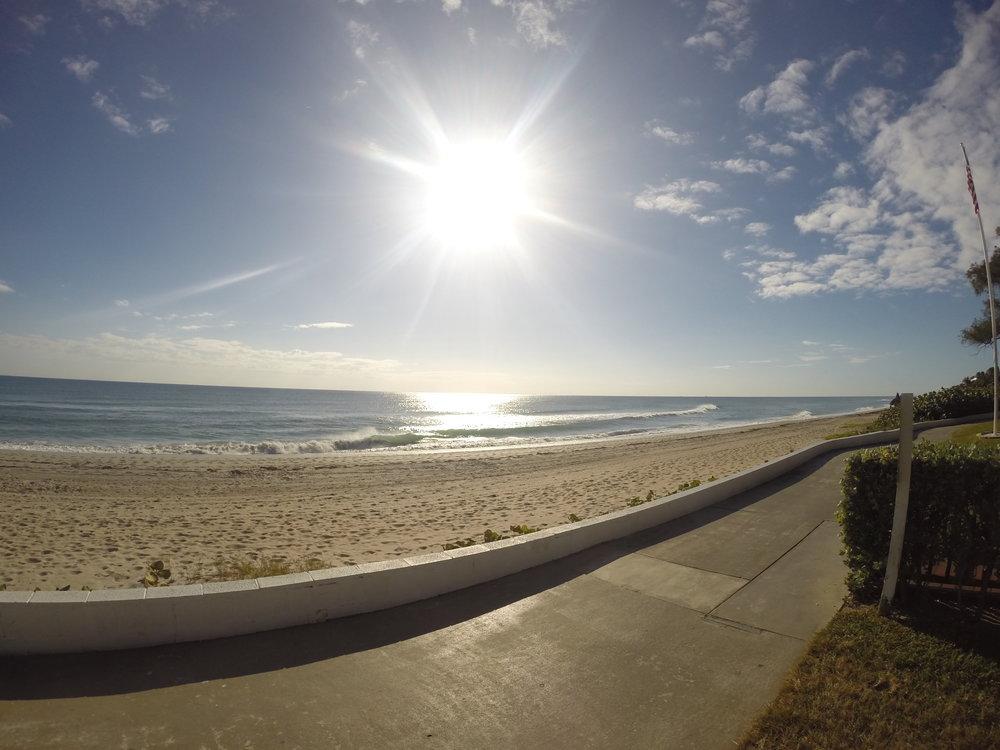 Oceanfront golf Cart Path in briny Breezes.JPG