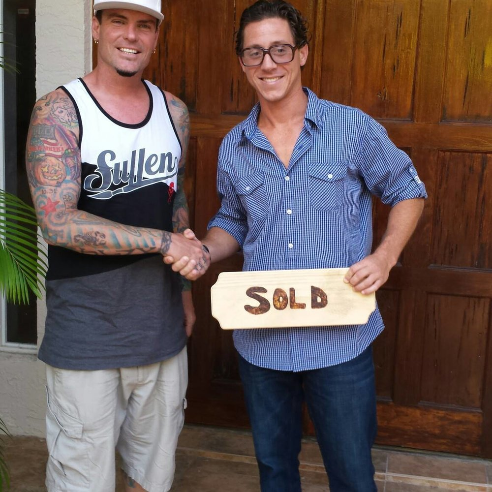 Trusted Representation  - Celebrity TV Star Vanilla Ice on left and Broker James on right.