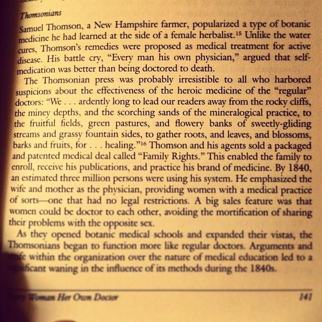 Goooooood reading #womenshistoryofmedicine #everywomanherownphysician #inspiration #medicine #healing #herbs #naturalmedicine #oldwisdom #restorativeharmonyacupuncture #womanashealer