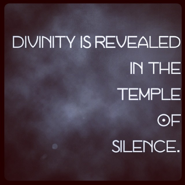 #divinity #silence #wisdom #ecclesia #meditation (at inner space)