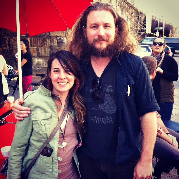 I'm shitting you not!!!!!! #hotteacart #magic !!!! #jimjames was walking by and had tea with us before soundcheck at #uniontransfer and he was so sweet!!! He comped bobby, me, and laura to the #soldoutshow tonite!!! I cannot believe this day!!!!! #mymorningjacket (at Hot Tea Cart)