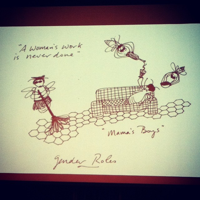 Incredible slides from a #GENIUS of a woman at the #philadelphiabeekeepersguild #laurieramonaherboldsheimer #womensworkisneverdone #beekeeping #bees #drone (at William Penn Charter School)