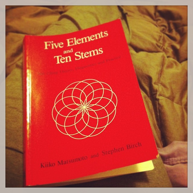 #snowday means lots of time exploring + #reading #fiveelementtheory from a living master, #kiikomatsumoto (at Restorative Harmony Acupuncture, Philadelphia, PA)