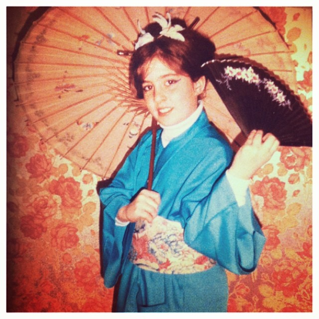 I started young! My fascination with #eastern culture started early ;) For 'ancestor's day' in 4th grade, I insisted on being a #geishagirl #foreshadowing #iloveasianculture #tbt (at Memory Lane)
