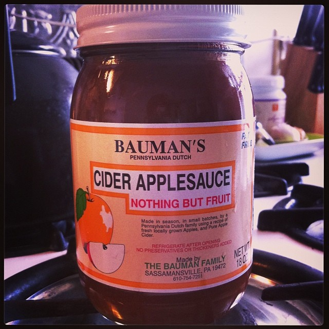#holymama !! This ish right here! If you don't know, now you know! #ciderapplesauce from #mariposacoop . I use it in my hot #porridge in the morning #allfruit #applesauce. #apple is a #yintonic and a #qitonic ! (at Home is where the Heart is)
