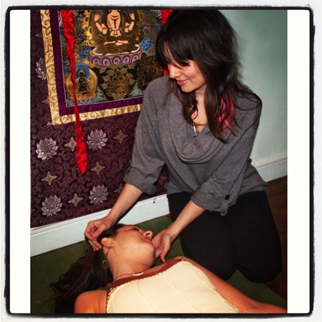 #yogapuncture ! At #dhyanayoga next saturday ( www.dhyana-yoga.com  to signup). #nourishthyself with love, yoga, and needles. Feel bliss, anxiety/stress relief, and lightness. Care of #lianacameris and #restorativeharmonyacupuncture. (at Dhyana Yoga Seva Center)