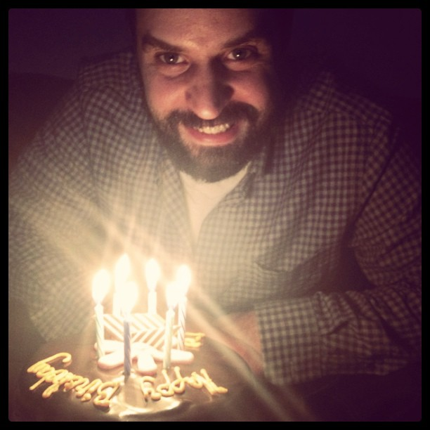 My favorite person in front of his #birthday cake. I love you Bobby!! (Taken with  instagram )