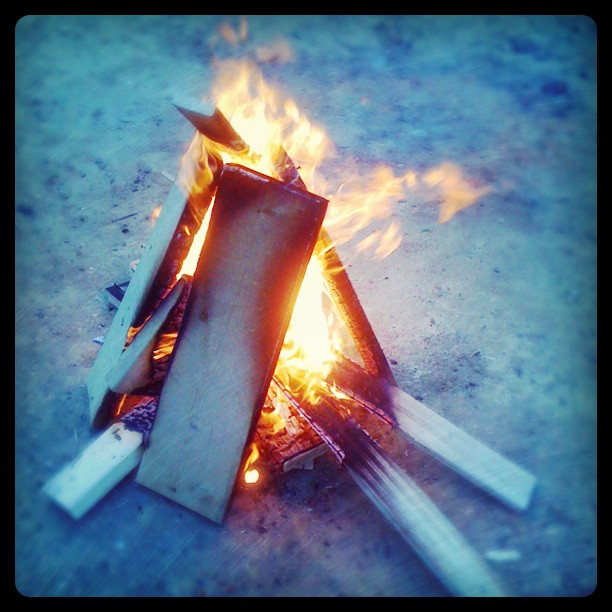 Impromptu #fire at #postgreen (Taken with  instagram )