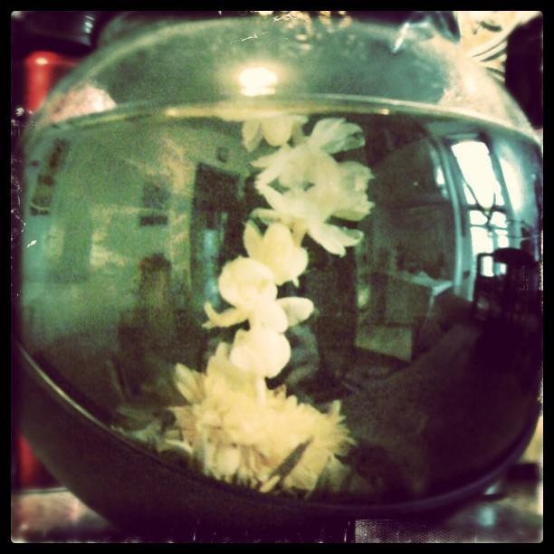 May your heart open like a flower… #floweringtea #tea (Taken with  instagram )