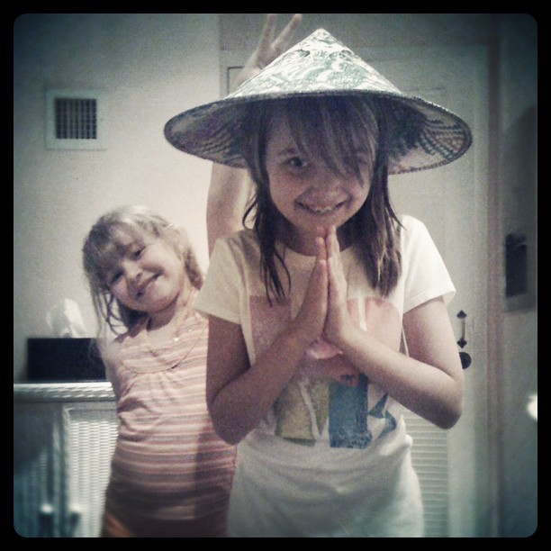 My nieces, whom I miss dearly.  Bright, beautiful stars… (Taken with  instagram )