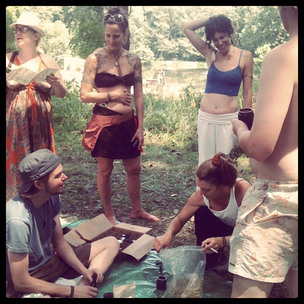 Sarah Cohen's Medicinal Herb workshop at #pexsummerfest (Taken with  Instagram )