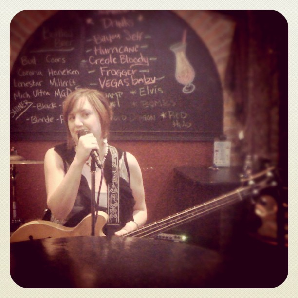 My super-amazingly talented bass-playin sister throwin down the blues!!! (Taken with Instagram at Colorado Springs, CO)