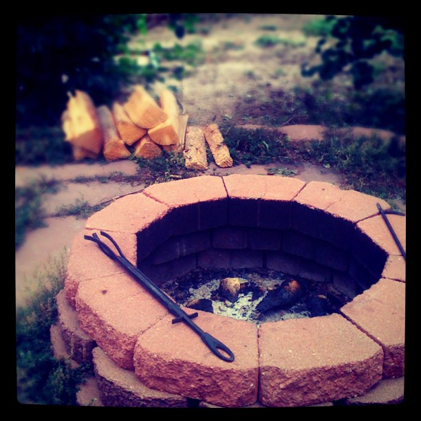 #Firepit in my siSTAR's backyard. #ceremony (Taken with  Instagram  at Colorado Springs, CO)