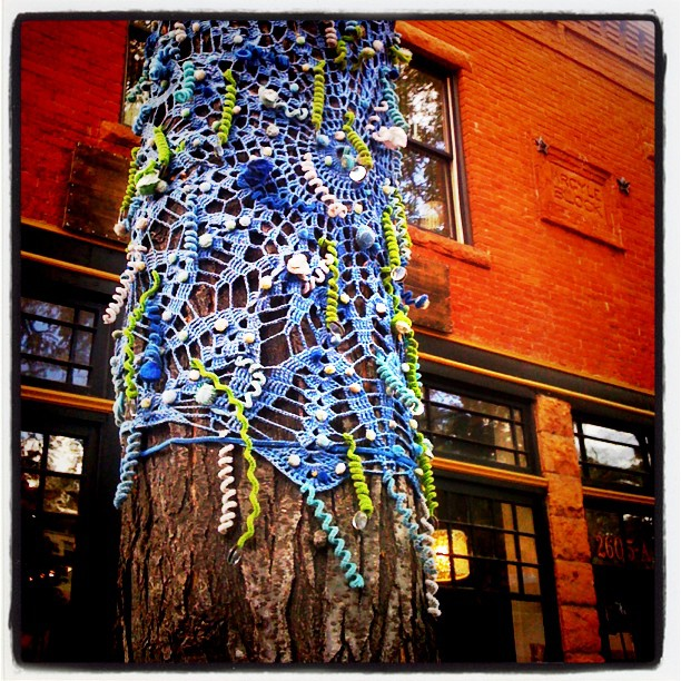 The #yarnbomb -er striketh! Beauty! (Taken with Instagram at old colorado city, co)