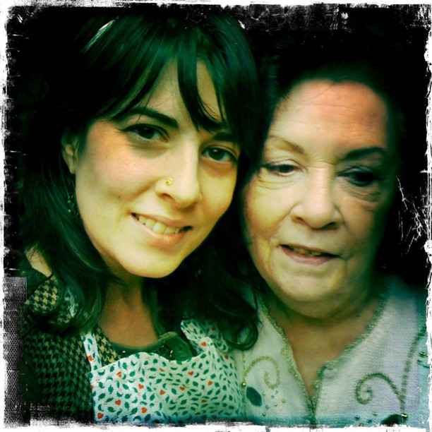 Mi mama & me! I love this woman so much!! Love and kiss your mama every time you see her! #gush (Taken with  Instagram )