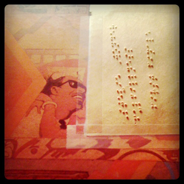 There's #braille on this old, found #steviewonder #record  #musicismedicine