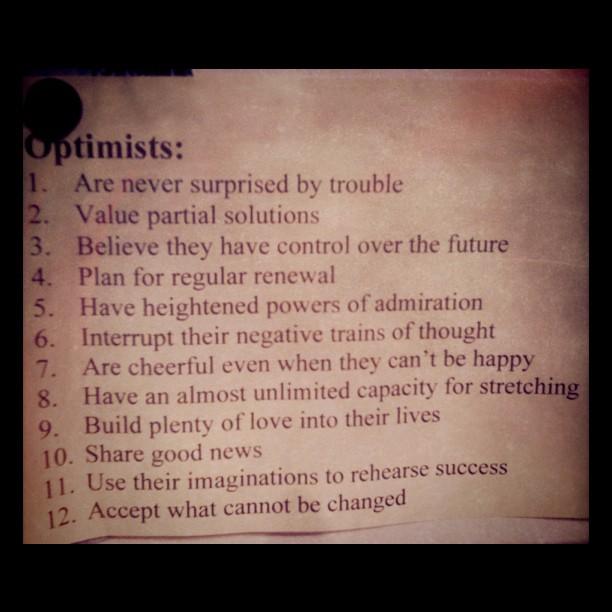 LOVE me some #optimists!! @denisespetrino :)