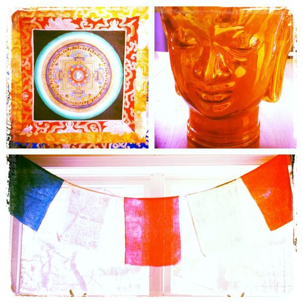 Visions of detox #acupuncture #yoga #retreat #beyondasana #brittanypolicastro #restorativeharmonyacupuncture #carolineashurst #buddhistprayerflags #buddha #tibet