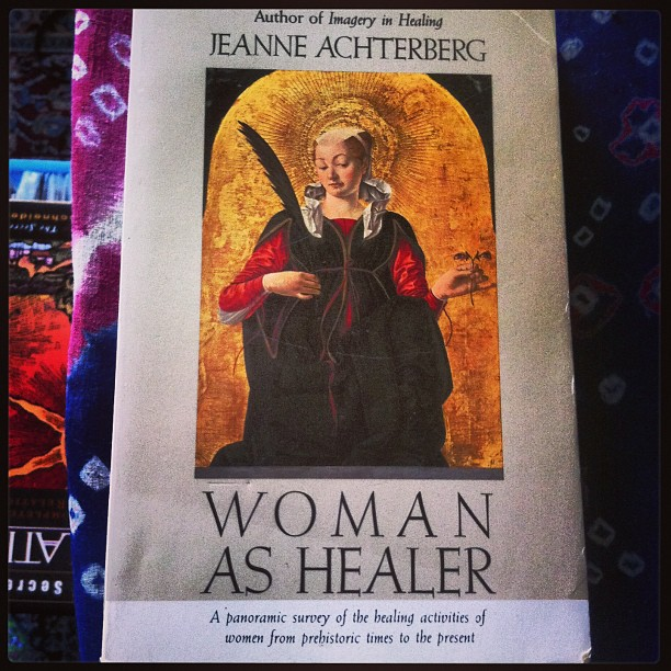 Another read on the queue: #womanashealer a panoramic survey of the healing activities of women from prehistoric times to the present.