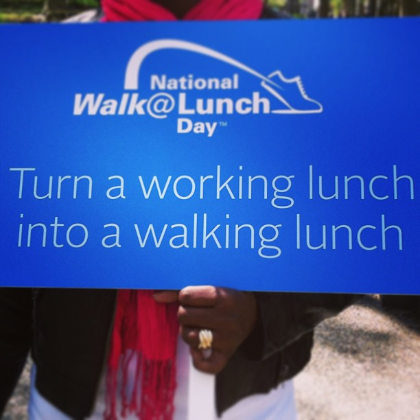 We should do this every day! Or at least enjoy our lunch and not be working! #workplacehealth