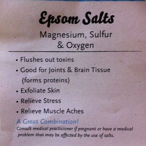 #epsomsalts are so healing! #healingwithcaroline