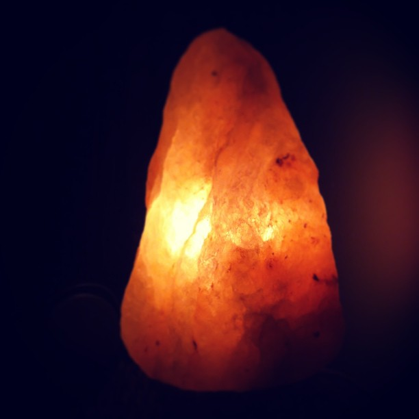 On days like these, how i think of my heart. #himalayansaltcrystal