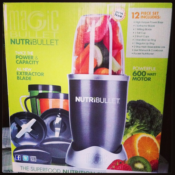 Want to be healthier? Easiest way to get all your fruits & veggies for the day and make the most delicious, fast, easy #smoothies ! Love my new toy 😍 🍏🍌🍐🍓 #nutribullet #gamechanger