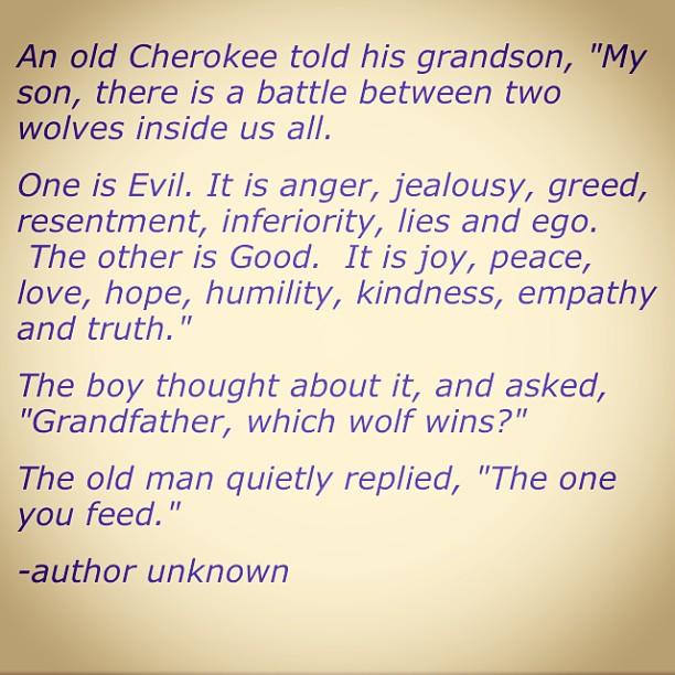 #cherokeewisdom #whatareyoufeeding Thanks, @rigbypumpkinmuffin  🙏🙏🙏