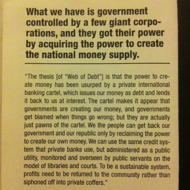 #educateyourself #publicbanking  www.publicbankinginstitute.Org
