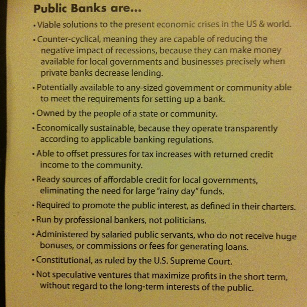 #publicbanking  www.publicbankingintitute.org