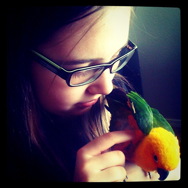 Magical #bird whisperer, Brianna (Taken with Instagram)