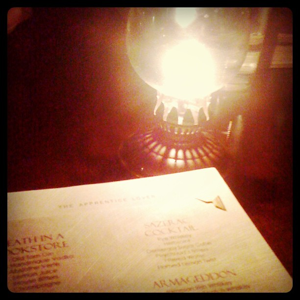 Cocktails by oil #candlelight in little #Bethlehem (at The Bookstore, Bethlehem, PA)