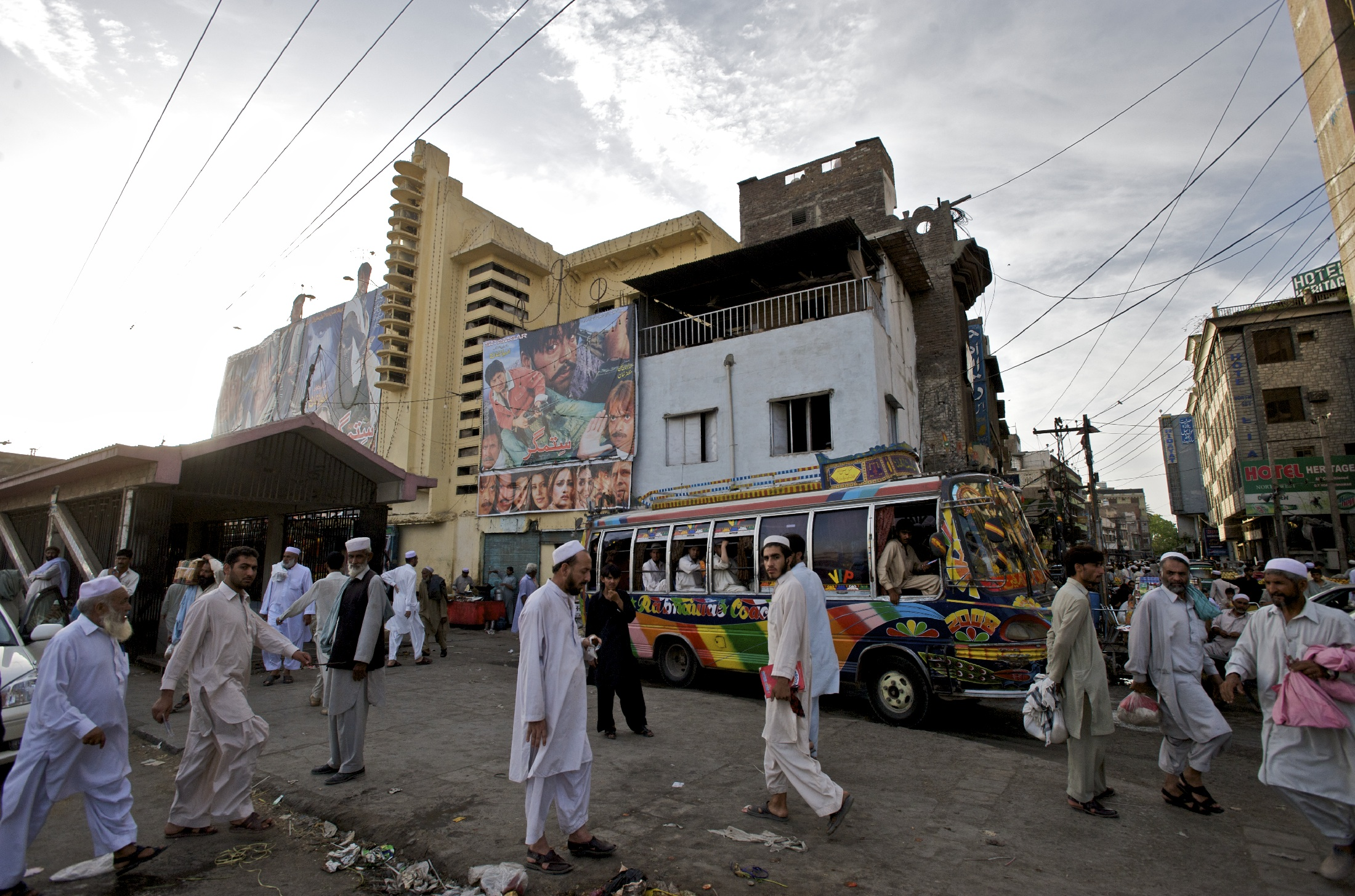 Peshawar's one remaining movie theater.