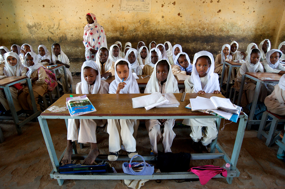 School Girls. Darfur, Sudan