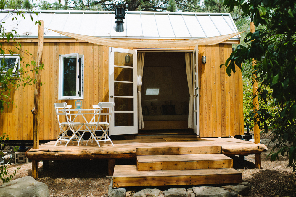 The Honest Home Podcast | Vina Lustado's Tiny Home Porch | Photo by Tina Loveridge