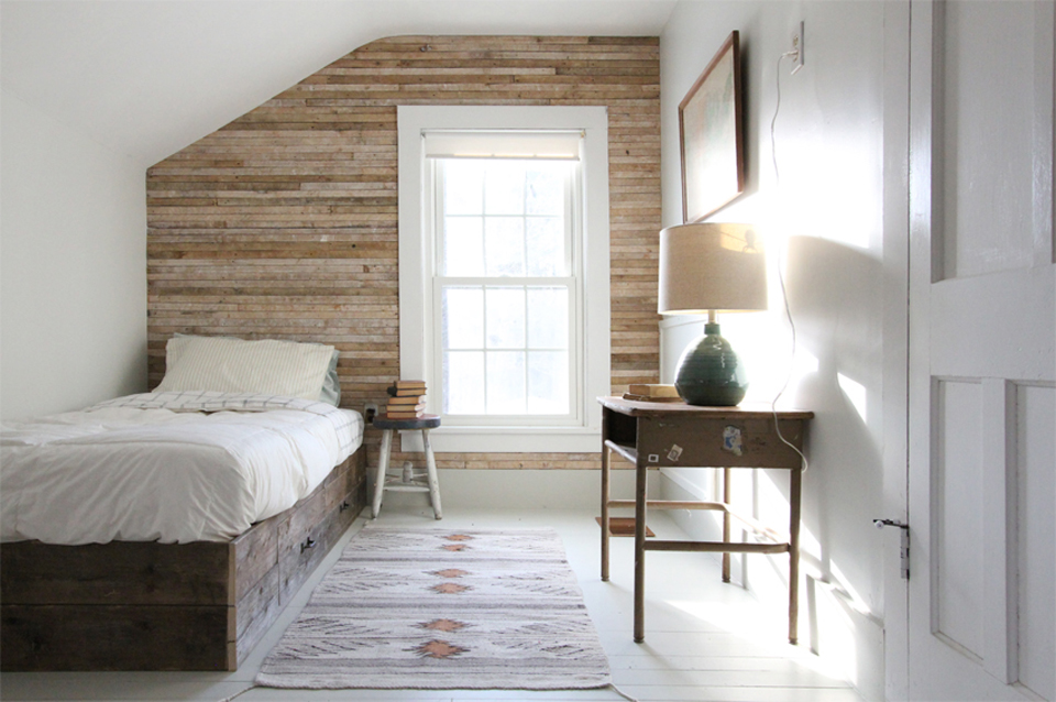 The Honest Home Podcast | Jersey Ice Cream Co. | Bedroom Wood Wall
