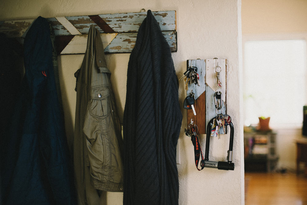 Wooden Coat Hanger  | The Honest Home | Jared Tharp | Loveridge Photography