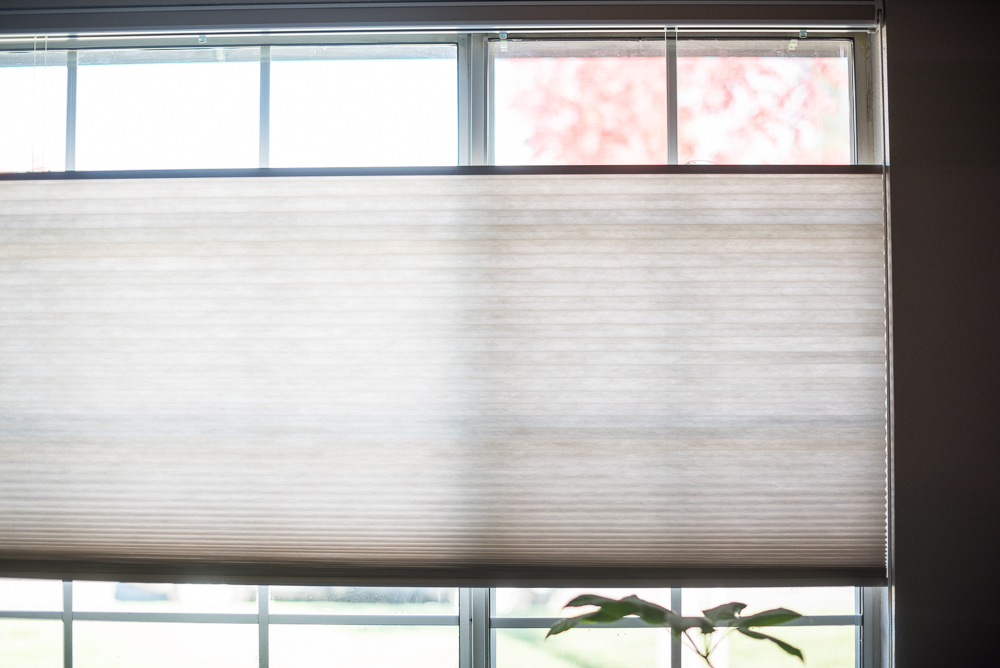 Cellular Window Shades via The Honest Home